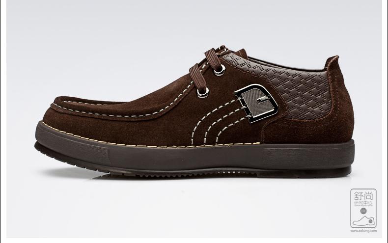 奥康新品 男士透气日常舒适软底鞋子 英伦潮流牛皮皮鞋单鞋高清展示图 44