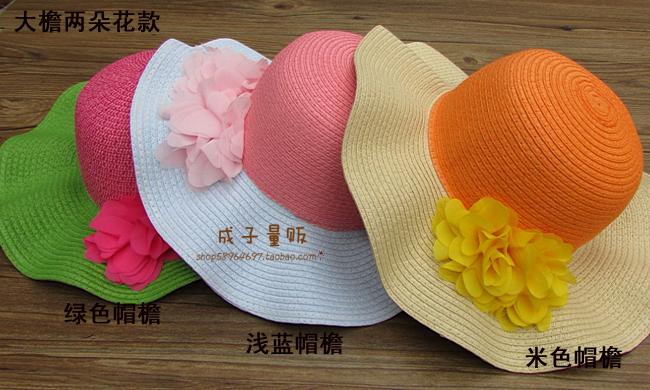 Головной убор Новая волна 2014 размещение праздник цветов младенца детей девочек вдоль большой карниза солнцезащитный крем пляж солома шляпа