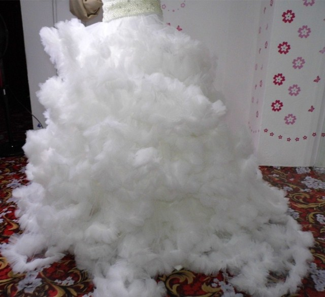 Свадебное платье [Свадебное платье Прокат] фэнтези облако группы труба Топ пачку verawang стиль корейского сладкий платье принцессы