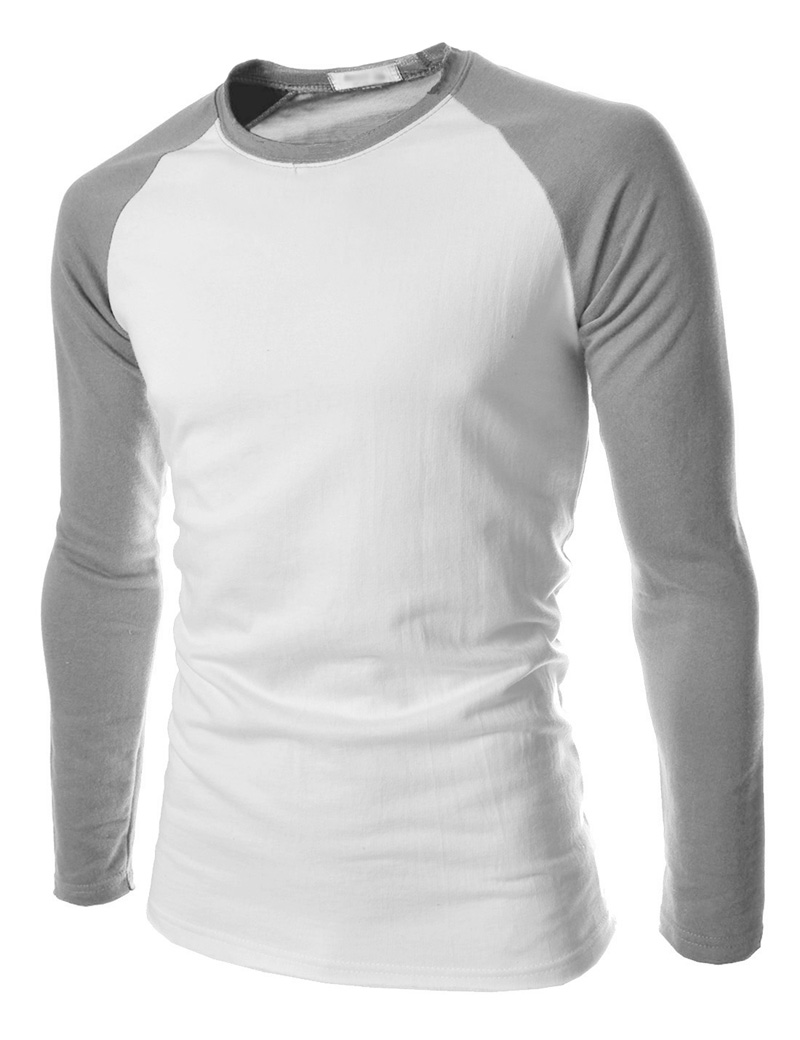 Design t shirt long sleeve - Mens Slim Fit Muscle Long Sleeve Raglan Baseball T Shirt Tee Top Casual Shirts Ebay