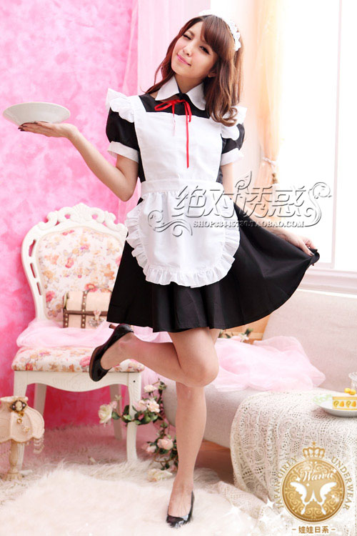 】 【Contains Adult sexy lingerie uniform Japanese cartoon maid role play maid outfit 6243