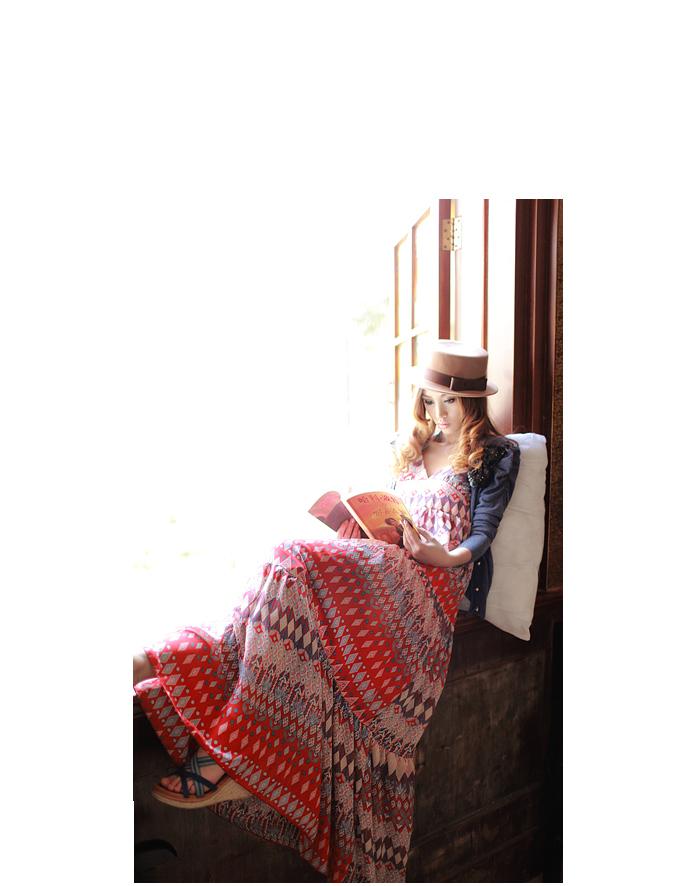 雪纺裙韩版雪纺连衣裙2011新夏仙长裙拖地吊带裙波西米亚长裙子97