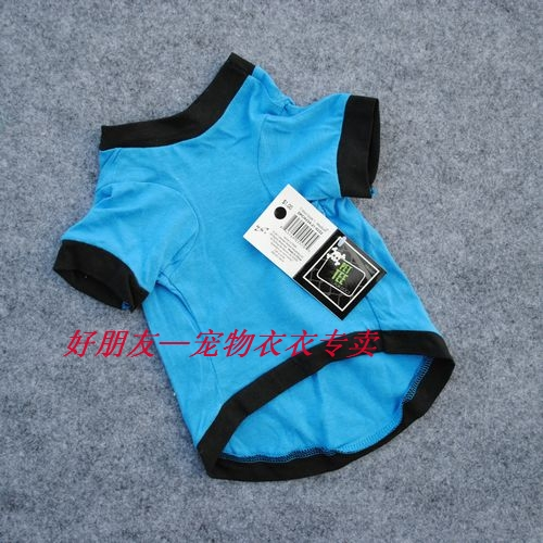 Dog Clothes T Shirt FUNNY PHRASES color blue green size XS S M