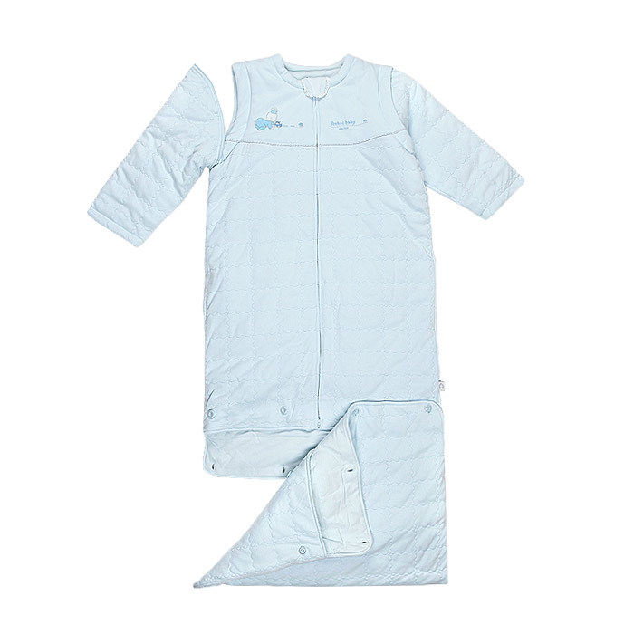 British cotton baby sleeping bag a genuine anti-kick was lengthened sleeping bag with detachable sleeves