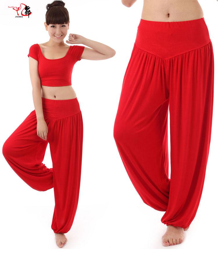 Шаровары K55 аутентичные блюда модальных Йога брюки танец практике костюмы женские костюмы йога штаны