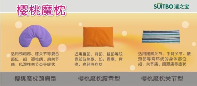 各阶段颈椎病人,均将以搭配樱桃魔枕热疗使用