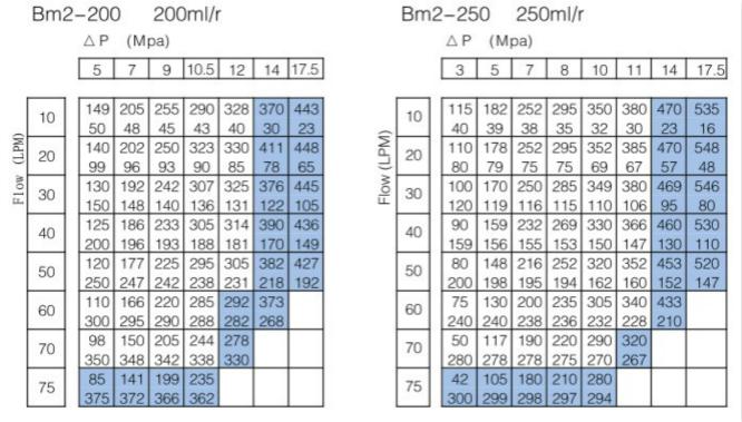 油马达 250 200 BMR 160 BMR 125 BMR 100 BMR 80 BMR BM2 液压马达