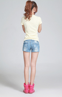 Женские шорты 2013 jeans shorts women shorts for women summer light blue hole plus size shorts denim size S, M, L, XL, XXL