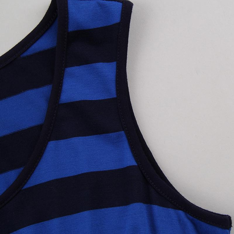 Женское платье Женщины летом тонкий тонкий полосатый талии платье платье сарафан и удобрения XL 6k43q