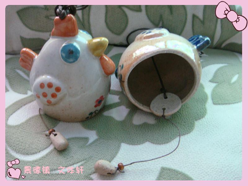 Style Hin Jingdezhen Ceramic original features pottery ceramic wind chimes hanging Xiaojikuaipao car