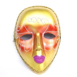 万圣节饰品 彩绘美女面具