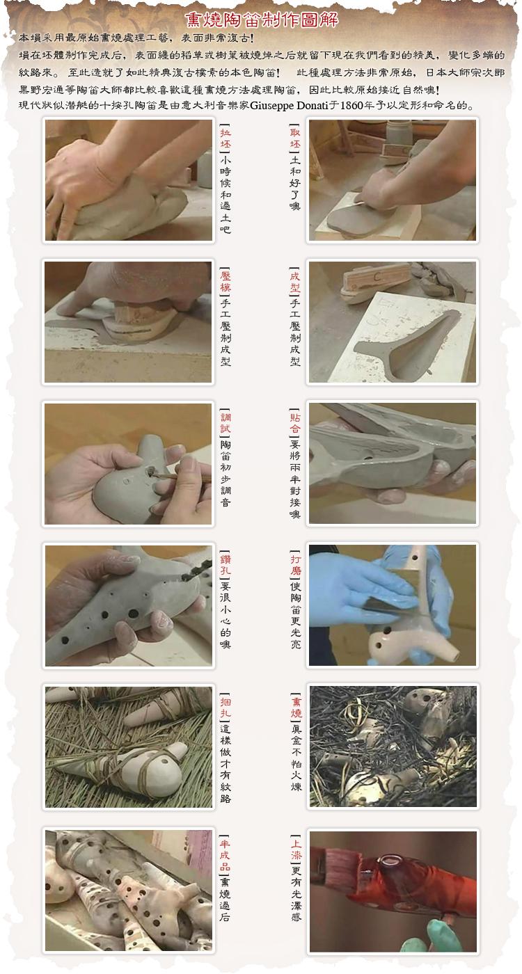 立式满口埙 调裂纹手绘 AG AF 孔中音 12 赵方同款 风雅直立式陶笛