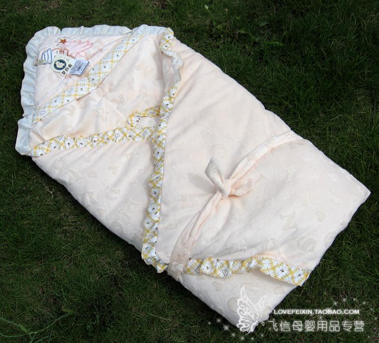 Baby Relax Increased thickening of the Spring and Autumn new baby blankets baby was coated detachable bile 1 m * 1 m