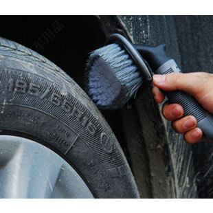Free Shipping car tire brush wheels brush car wash brush soft handle tire brush Package Special