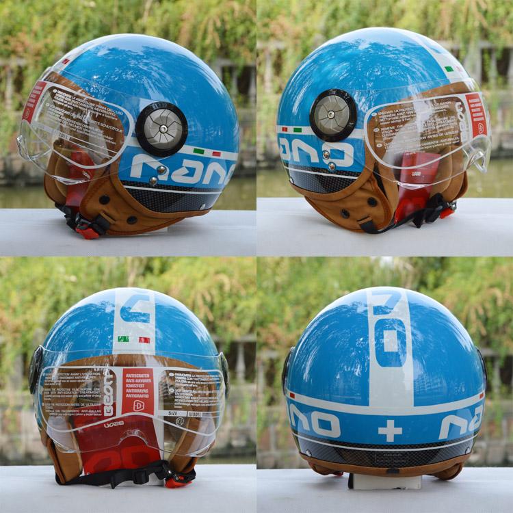 哈雷 男女/BEON头盔摩托车头盔半盔哈雷盔太子盔复古盔电动车男女头盔B/...