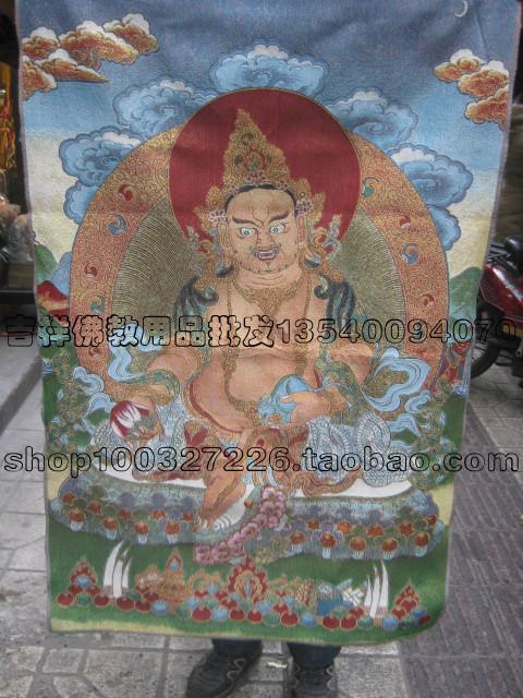 Религиозная тханка Бутик Шелковый Thangka картины Авалокитешвары/ядра/60 * 40 см/тибетский буддизм священные статуи/пакет электронной почты Тханг