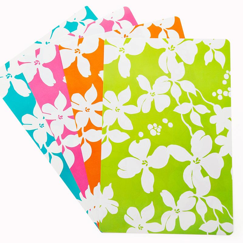 Hang Chong Colorful placemats (OPP - 4 pcs) famous brand Continental insulation mat bowls mat coasters creative fashion