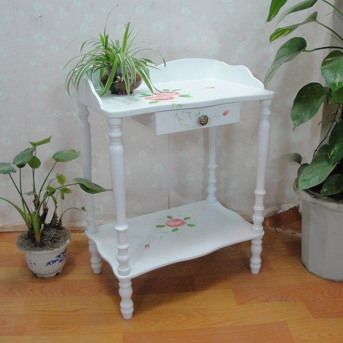 Телефонный столик «Аутентичные» краска процесс телефона стороне таблицы простой корейский ресторан таблицы Садовая мебель Мода сочетание