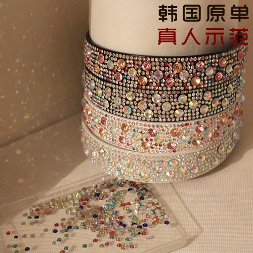 Заколки Корейский стразами оголовье почта полный роскоши кристалл экстра широкий оголовье накренилась бит сверла Южной Кореи обруч карта