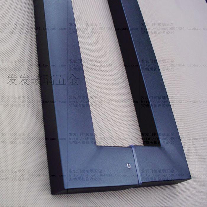 冲钻平面玻璃门不锈钢大拉手门大全喷烤黑漆把手cad特价图纸酒店图片