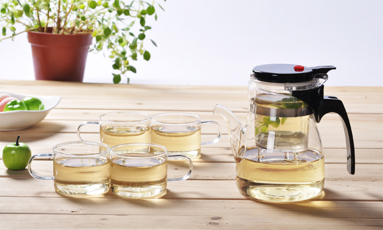 Manman Long House authentic Taiwan clear filter glass tea set package specials flower teapot Tea Cup specials