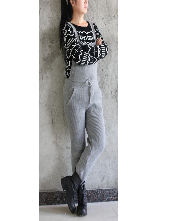 Женские брюки Виви грубой шерсти вязать сыпучих женщин случайных брюки шерсти для осень/зима комбинезон комбинезон комбинезон пакет mail