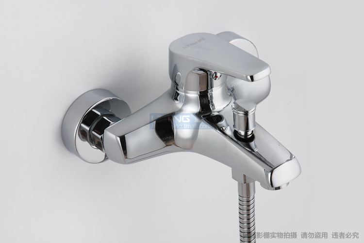 Blue vine Bathtub Copper Shower Taps Mixing Valve