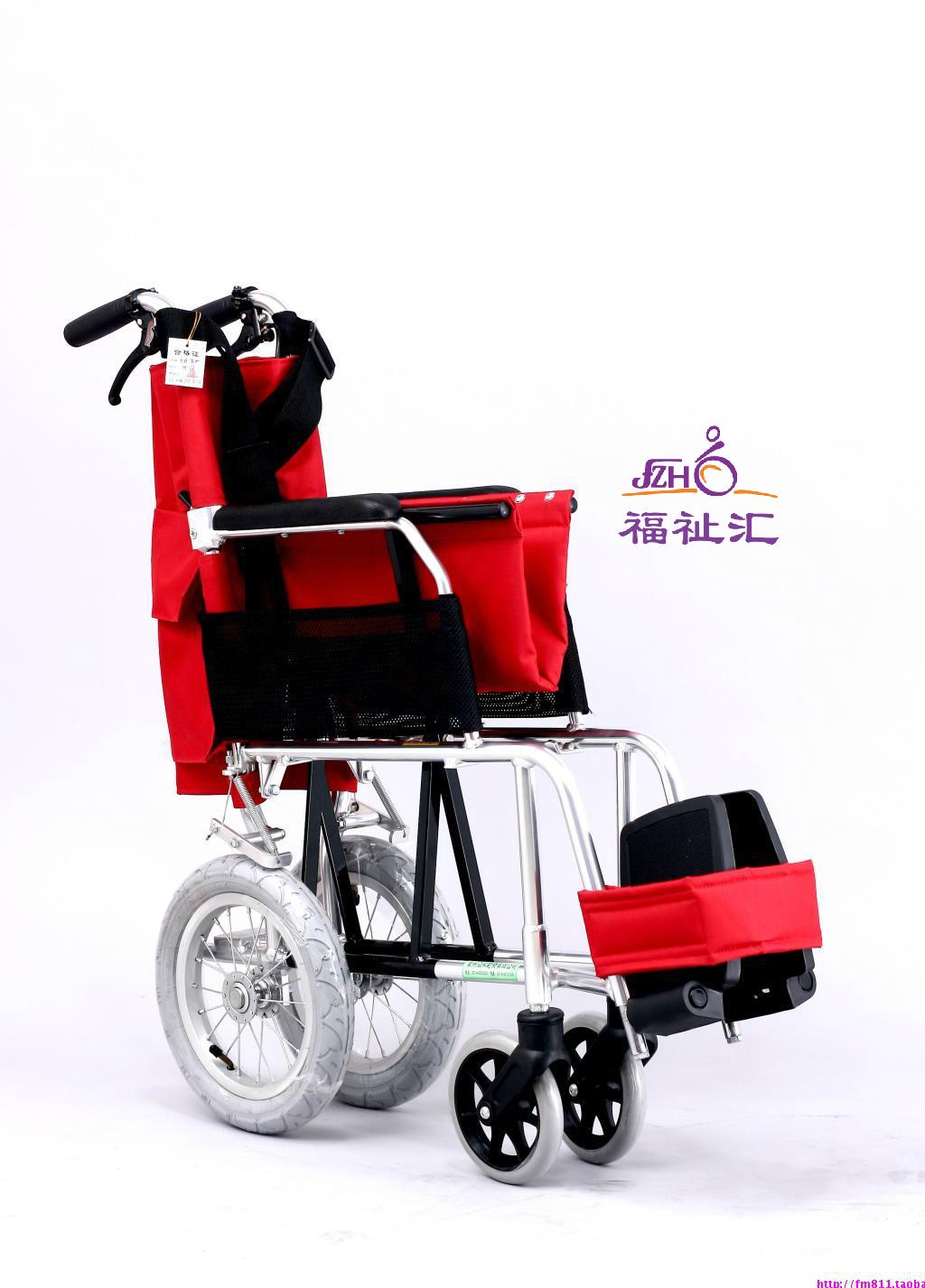 众合 JS-81S铝合金轮椅车   老年人折叠轮椅 便携 超轻8.3公斤(图2)
