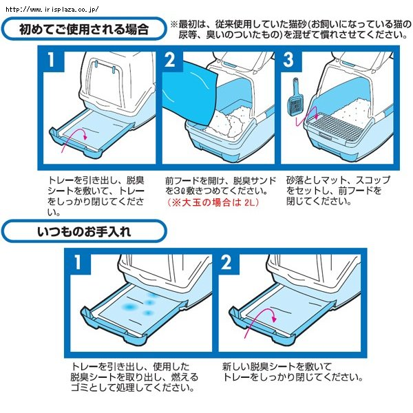 IRIS Alice Direct TIO-530 special cat toilet cleaning pad / diapers TIH-6M Replacement 2 week package Free Shipping