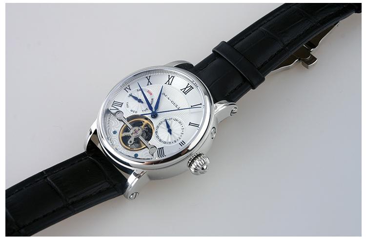 海鸥手表 2013新款裸摆双日历 自动机械手表8