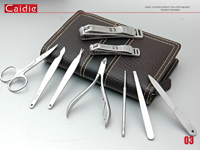 Caide Personal Care Stainless Steel Manicure Set 9Pcs