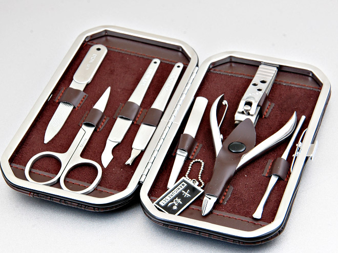 KANOO Classic Stainless Steel Nail Care Manicure Set 8Pcs