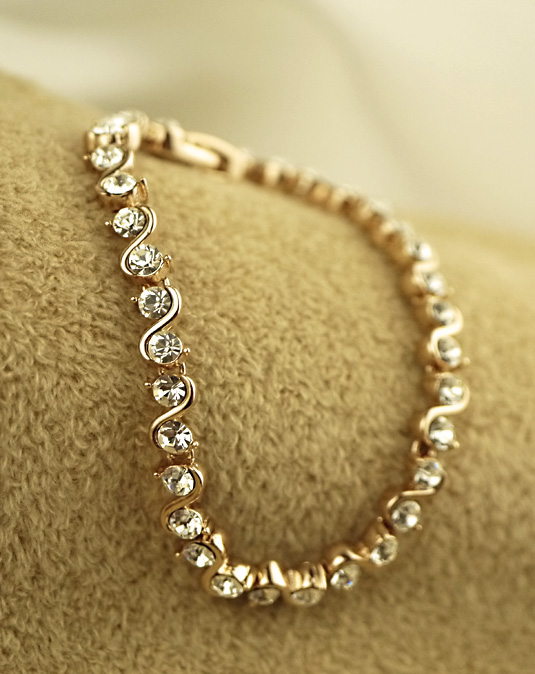 Delicate Life Single row diamond ladies bracelet Korea fashion jewelry jewelry Chinese girlfriend gift women's day Y111
