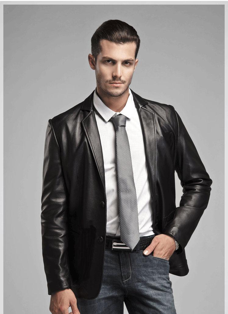 Leather Suit Coat - Coat Nj