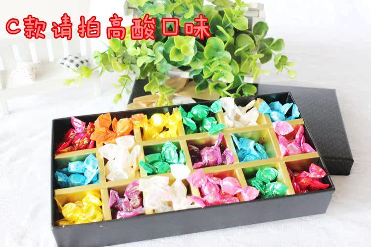 小阿古生产线礼品官网 54颗韩国手工水果切片糖果礼盒生日礼物可爱图片