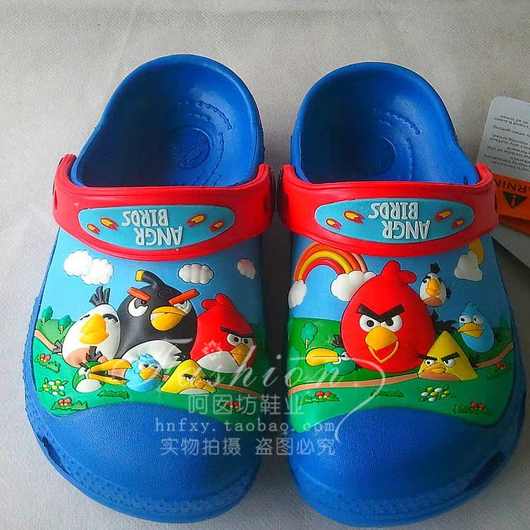 Детская обувь для дома 2014 новый angry birds Disney Тапочки Владимир Luo Ge отверстие пляж сандалии Обувь