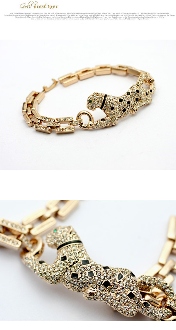 Italina red apple jewelry wholesale European and American classic big card house female leopard bracelet