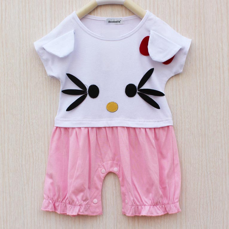 Doododile New Cute Cartoon Split Girls Baby Romper
