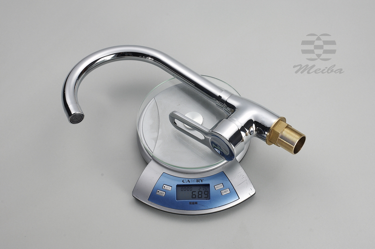Mepsi Brass bathroom single hole Rotary sink faucet kitchen faucet hot and cold send vegetable sink faucet hose
