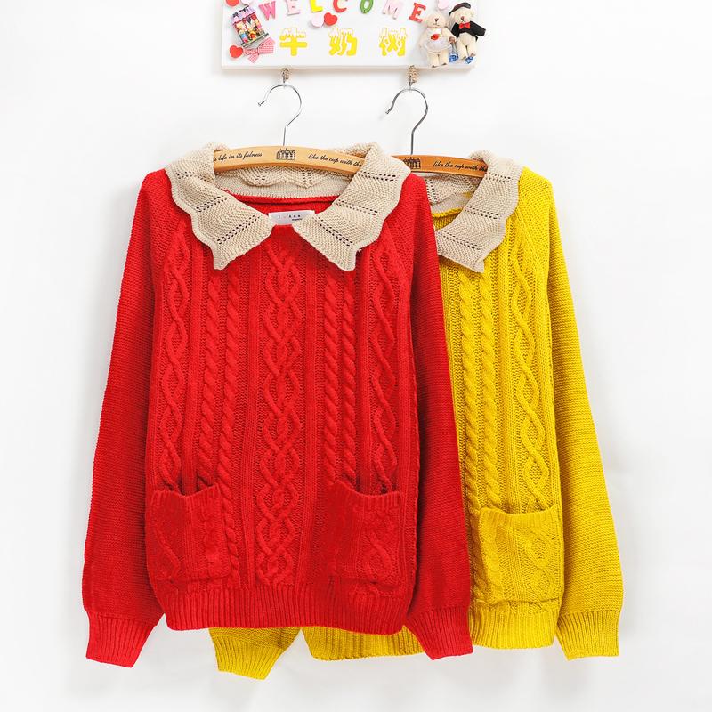 日系甜美麻花女装娃娃领 - 阿明的手工坊 - 千针万线