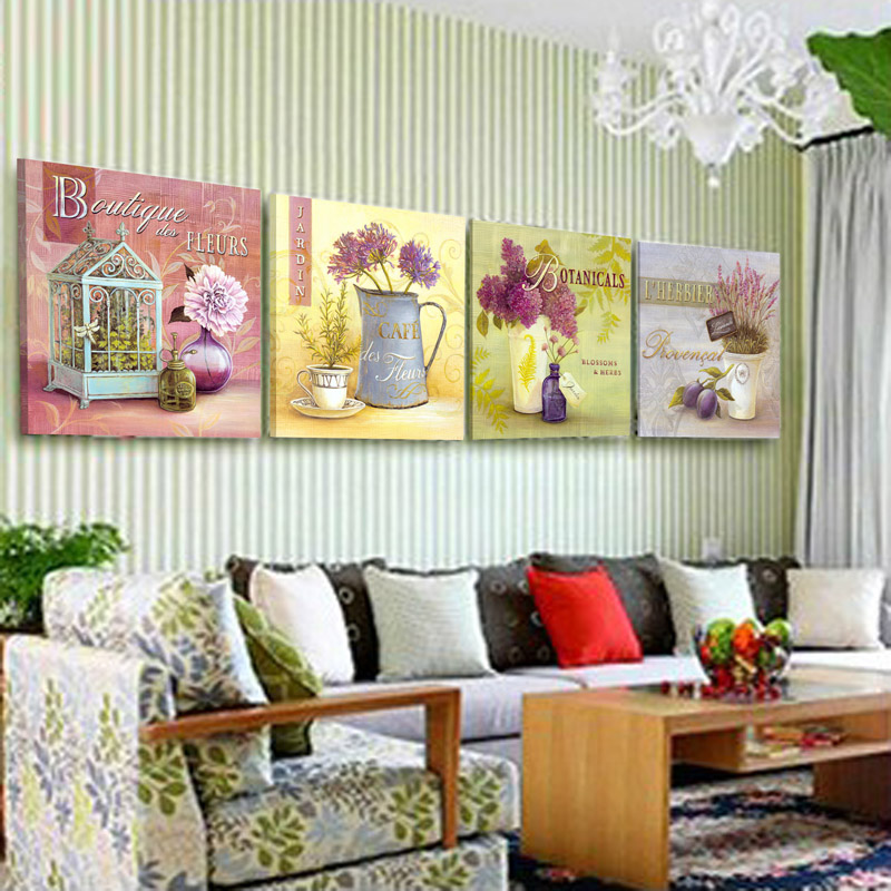 Yami Xin Modern living room European-style garden paintings decorative painting frame painting bedroom wall painting painting simple European Restaurant