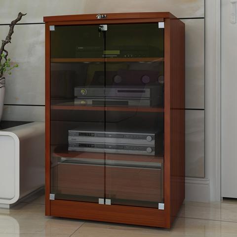 功放机柜 功放机箱家庭影院器材机组柜专业带锁设备柜 视听音响柜
