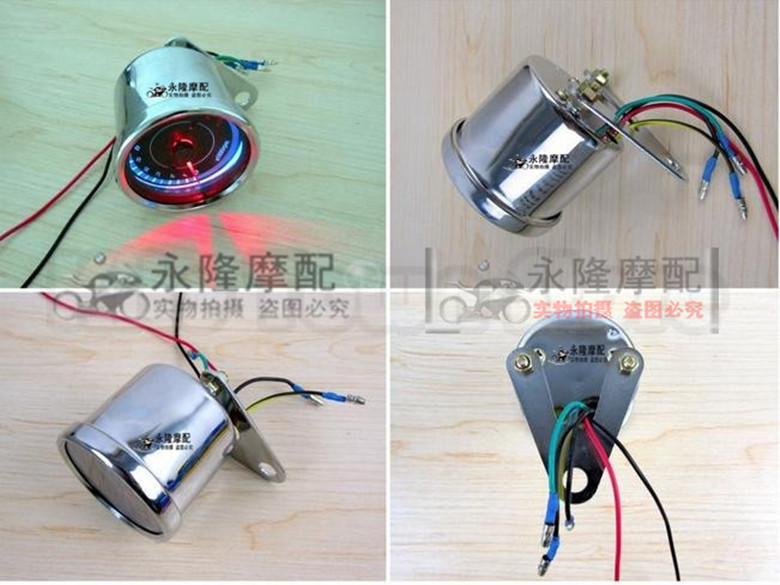 led light two color universal 13000 rpm scooter analog tachometer for motorcycle