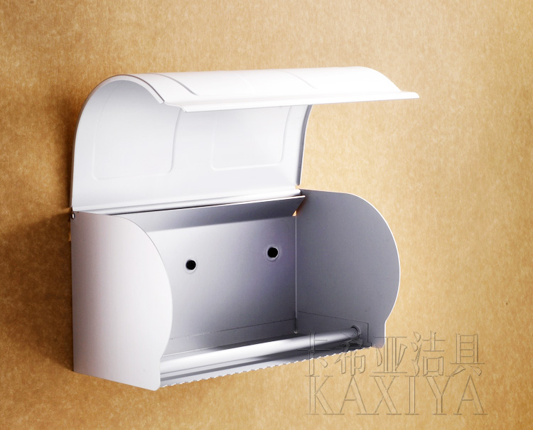 Kaxiya Space aluminum totally enclosed paper towel box of towel rack toilet paper boxes toilet paper frame 2303
