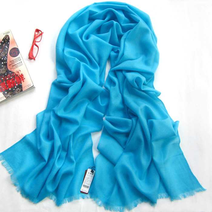 light sky blue long wool scarf warp
