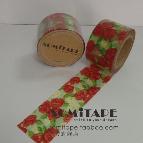 Клей / лента Somitape 8397 широкий лента цветущие цветы и бумажной ленты, декоративные подарки