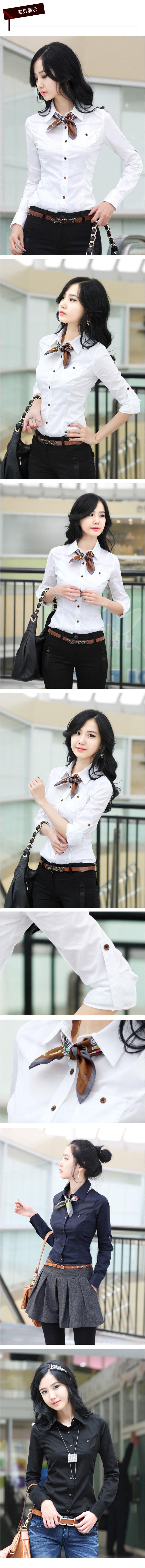เสื้อเชิ้ตทำงานชุดฟอร์มพนักงานบริษัทราคาส่ง นำเข้า ไซส์Sถึง2XL สีขาว - พรีออเดอร์MI503 ราคา 550 บาท