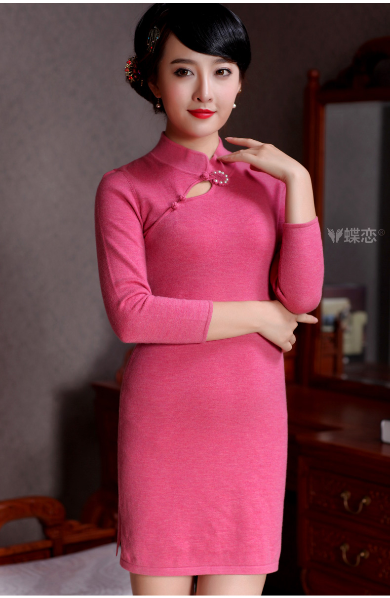 Butterfly Lovers 2015 spring new improved stylish aura pure wool dresses dresses 49,093 figure XL pictures, price, brand platters! Elections are good character, the national distribution, so why buy now enjoy more preferential! Health