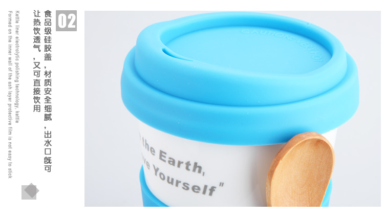 special beauty carved Genuine! English TOMIC ceramic cup mug with lid spoon couple creative water cup double insulated