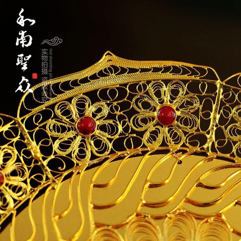 Круг дхармы Фрукты для человек штрих штраф перегородчатая эмаль провод для (большой) / Blue качество экспорта в Тайвань